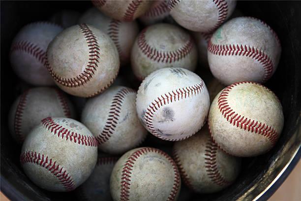 Best Bucket Of Baseballs Stock Photos, Pictures & Royalty