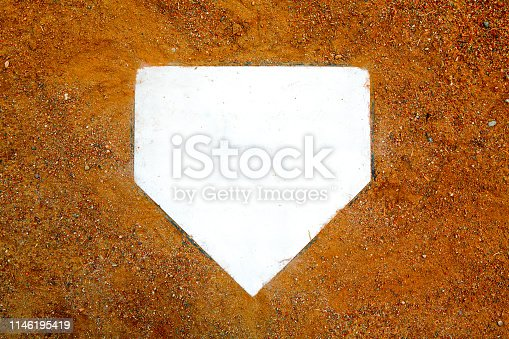 home plate background on clay dirt