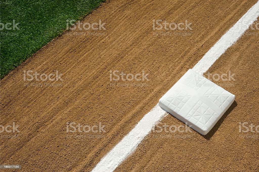 Baseball/Softball Infield, Third Base and Foul Line stock photo