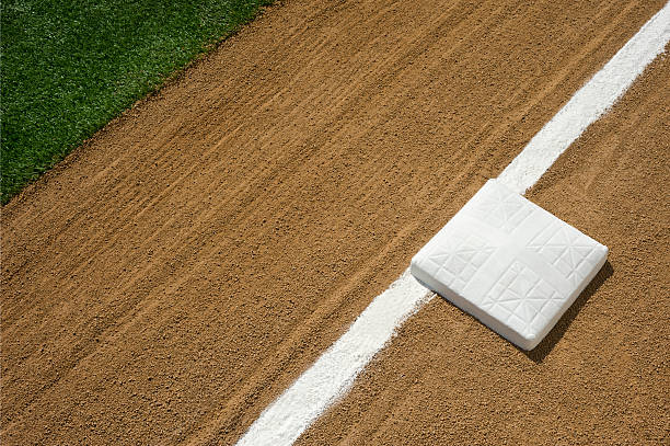 Baseball/Softball Infield, Third Base and Foul Line stock photo