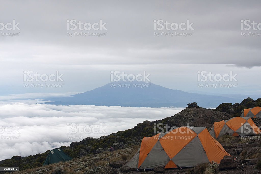 Basecamp on the mountain royalty-free stock photo