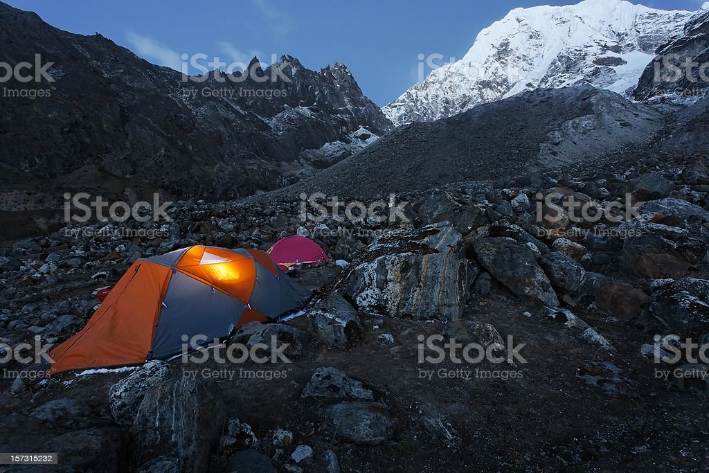 Basecamp royalty-free stock photo