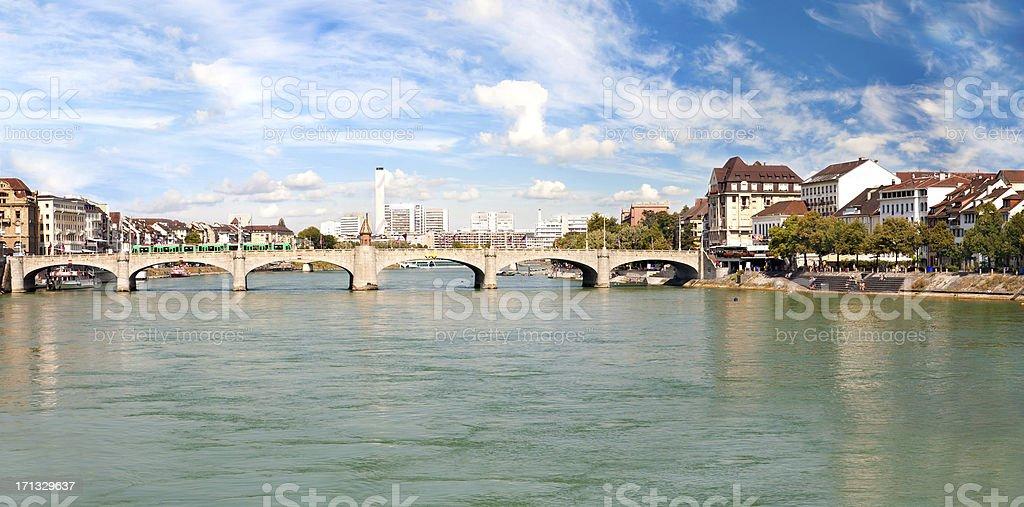 Basel and Rhine river, Switzerland stock photo