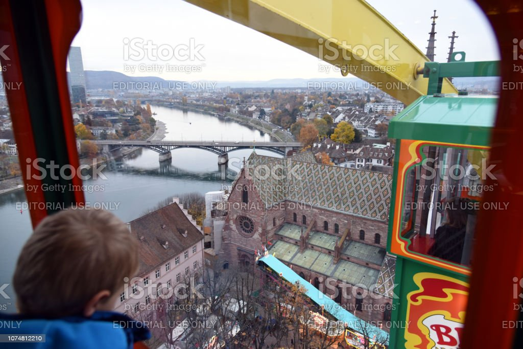 Basel Herbstmesse stock photo