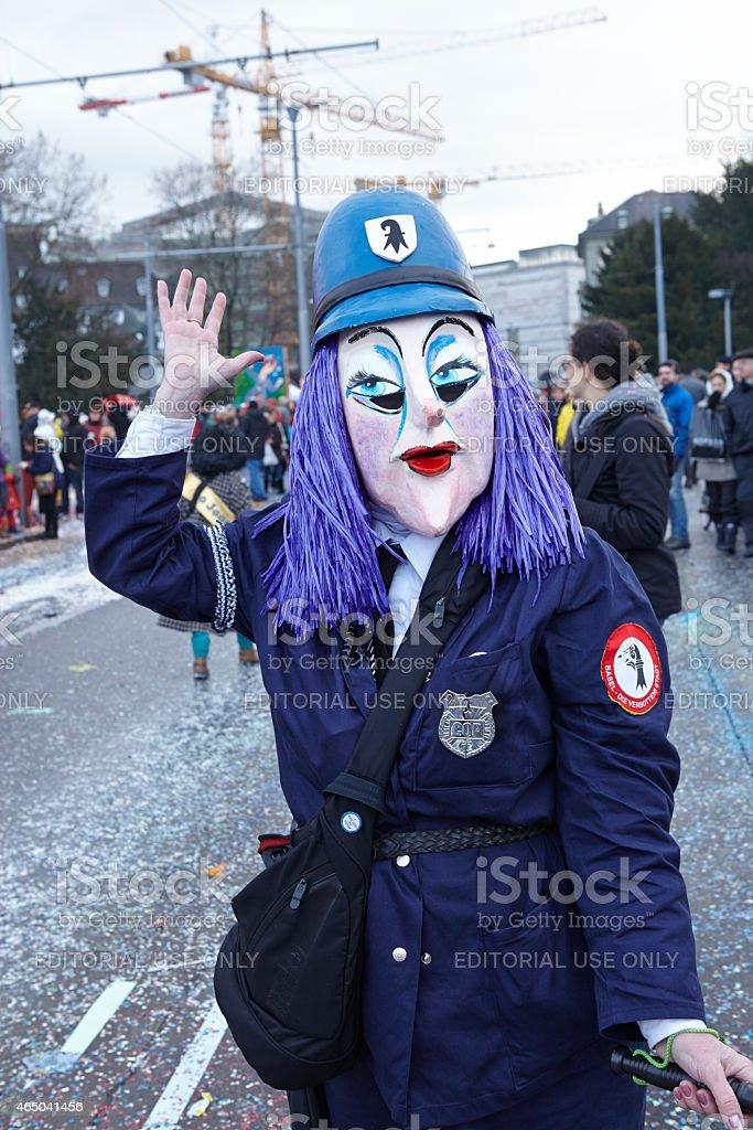 Basileia (Suíça)-Carnaval de 2015 - foto de acervo