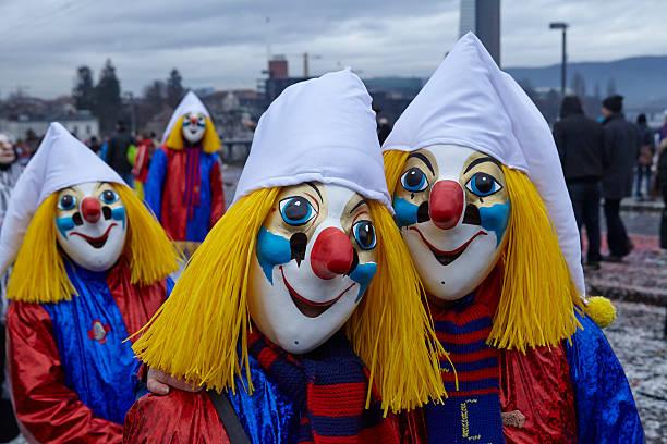 basel (schweiz)-karneval 2015 - fasnacht stock-fotos und bilder