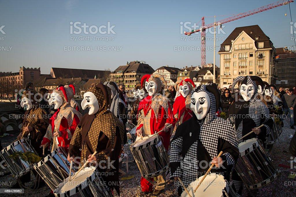 Basel Carnival stock photo