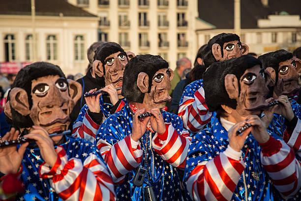 basel karneval - fasnacht stock-fotos und bilder