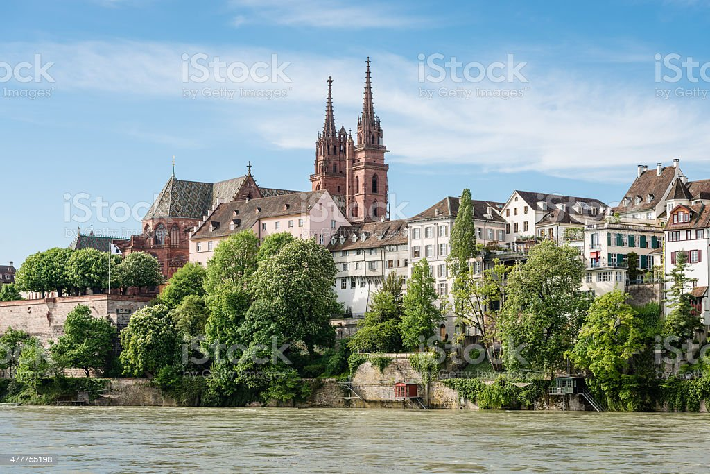 Basel Cathedral stock photo