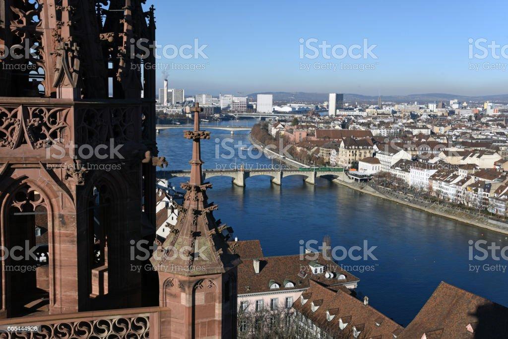 Basel Stadt-Panorama – Foto
