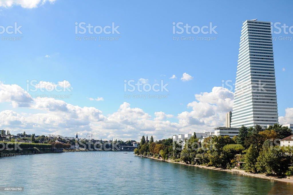 Basel City stock photo