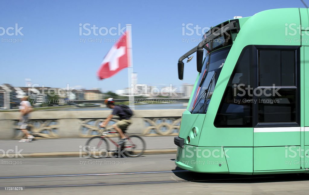 Basel City / Street Car stock photo