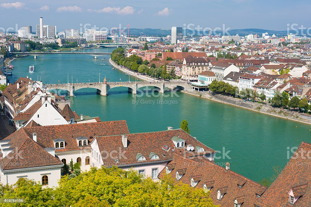 Basel in a summer morning – Foto