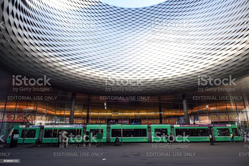 Basel Messe built by Herzog & de Meuron stock photo