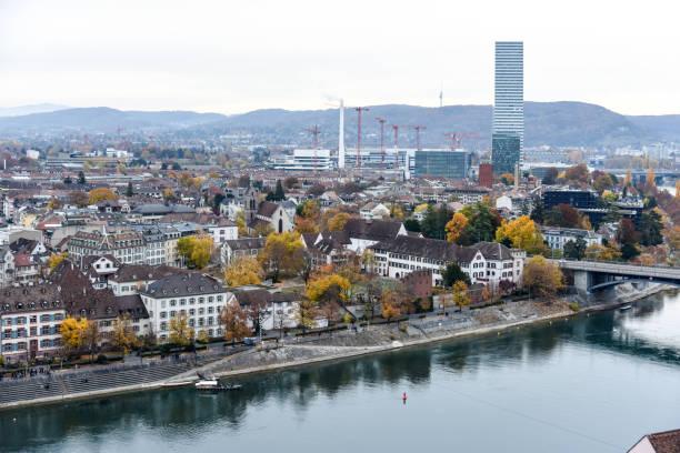 Basel Panorama stock photo