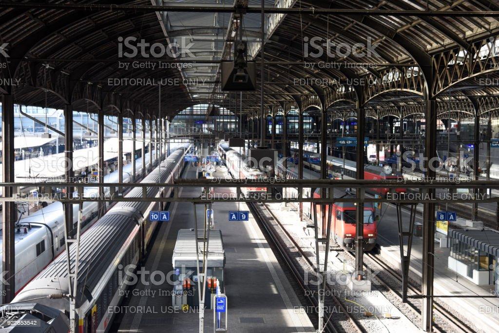 Basel Railway Station stock photo
