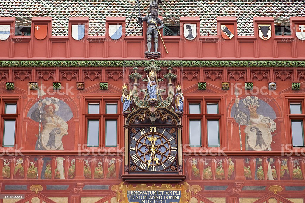 Basel Red Town Hall, Switzerland stock photo