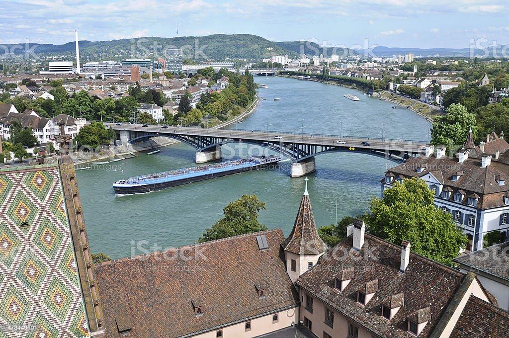 Basel - Rhein stock photo