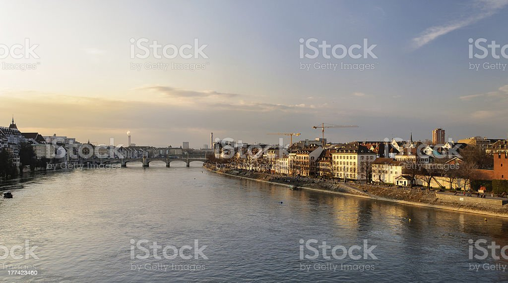 Basel river bank – Foto