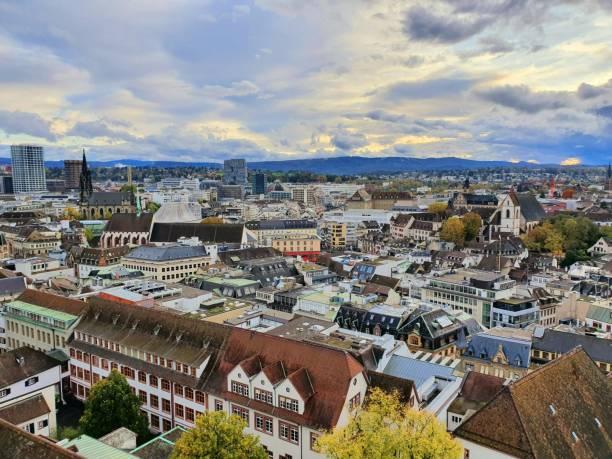 Basel Skyline stock photo