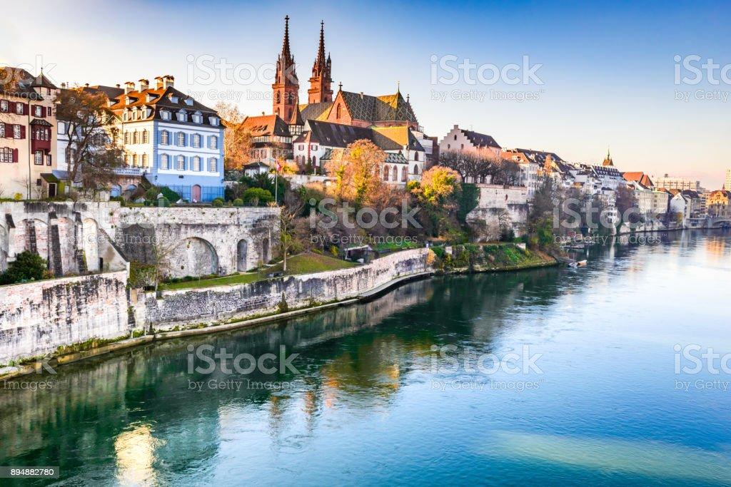 Basel, Swizterland - Munster Cathedral stock photo