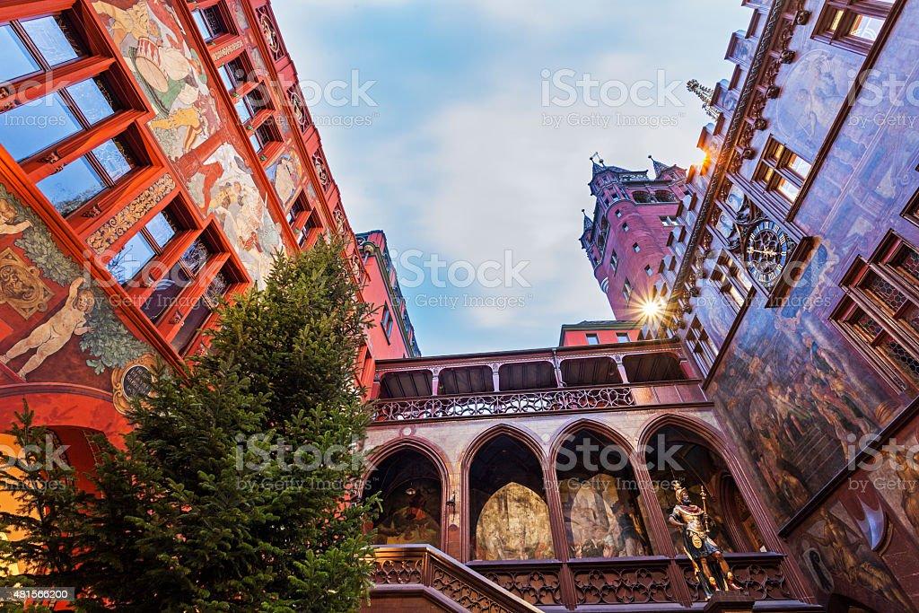 Basel Town Hall stock photo