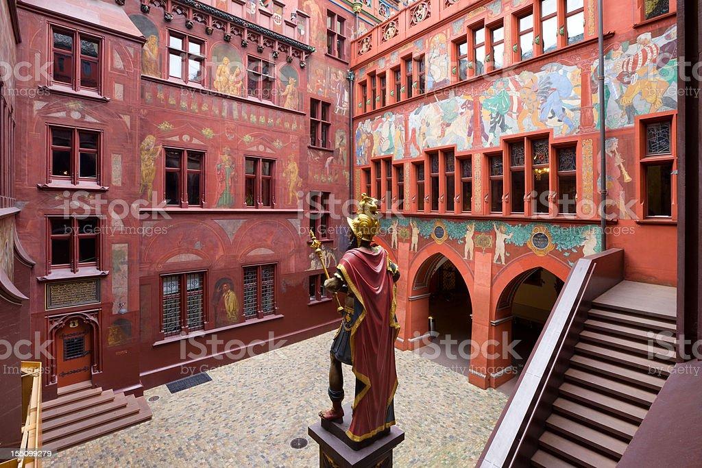 Basel Townhall, Switzerland stock photo