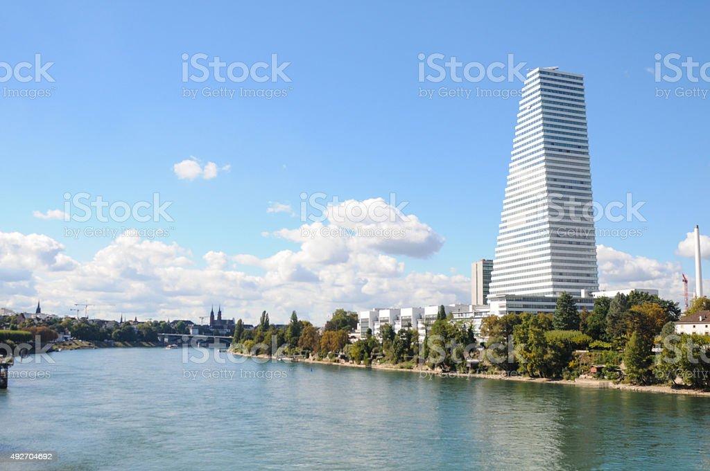 Basel mit Fluss – Foto