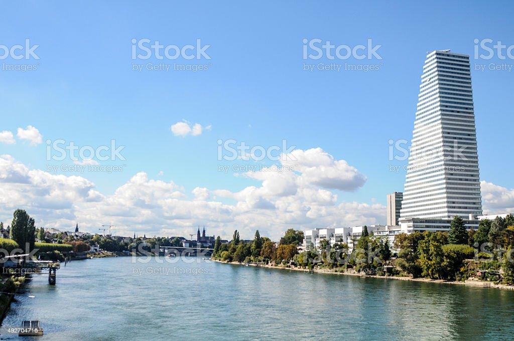 Basel mit Rhein – Foto