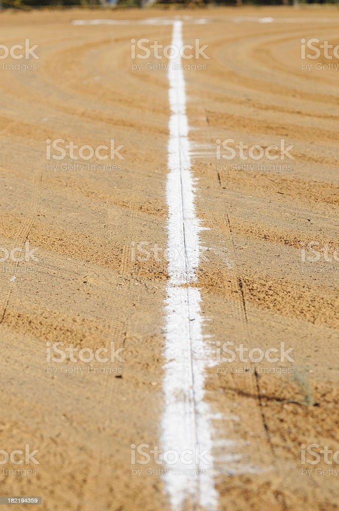 Baseline with circles in dirt royalty-free stock photo