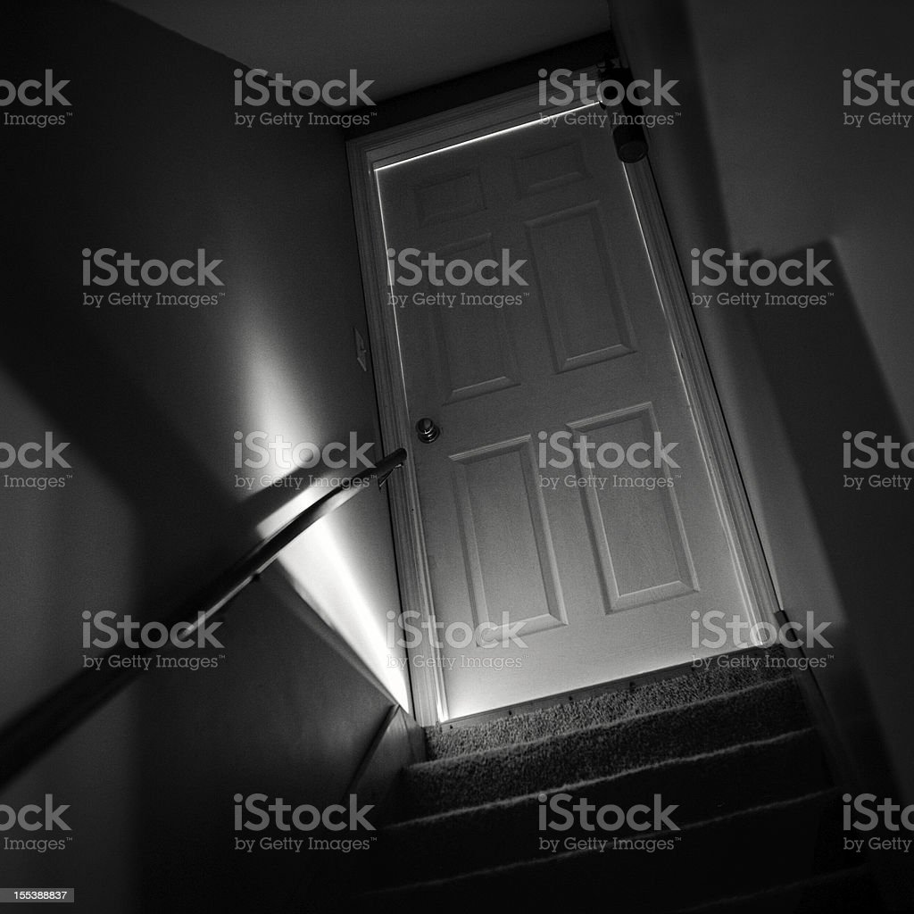 Basement Door stock photo