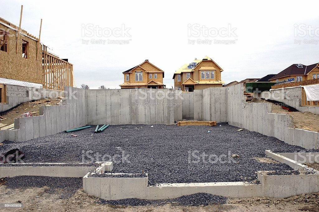Basement Foundation royalty-free stock photo