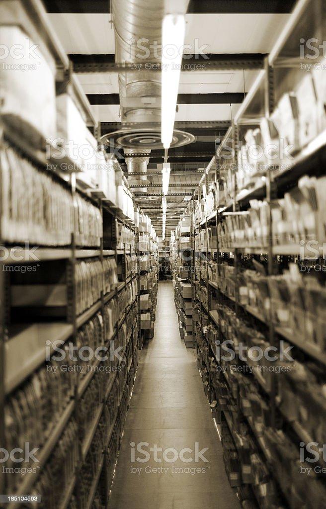 Basement photo-library storage stock photo