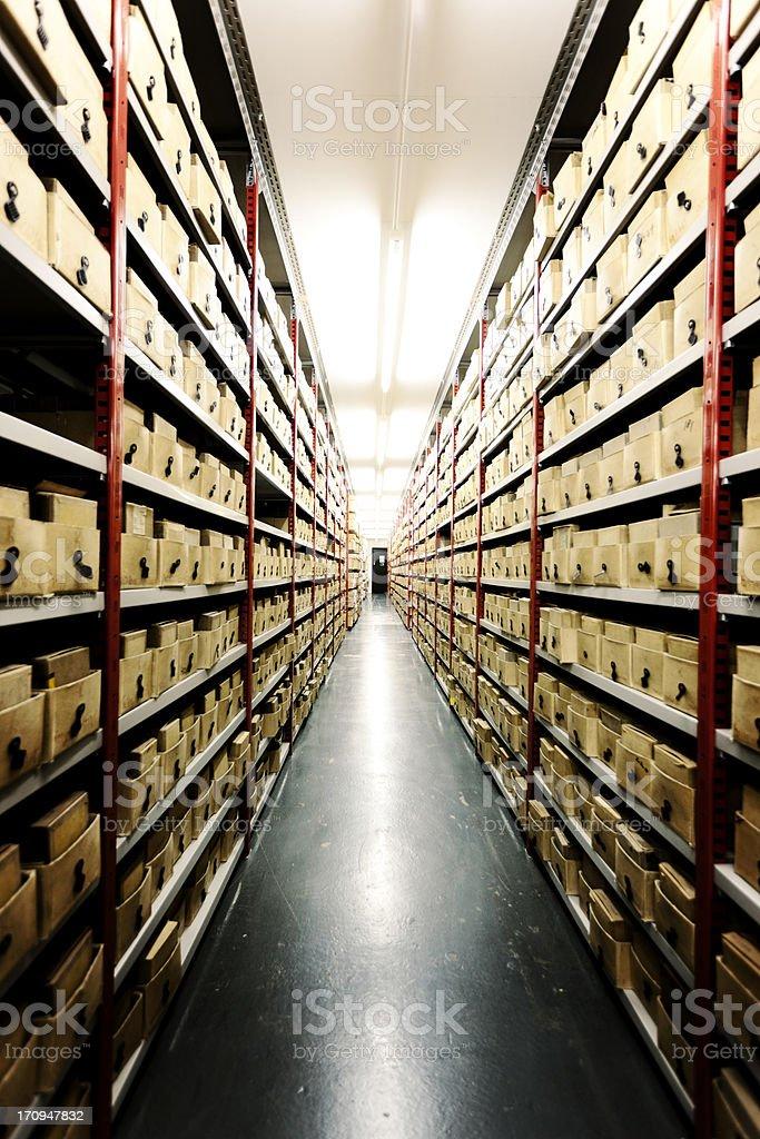 Basement storage. stock photo