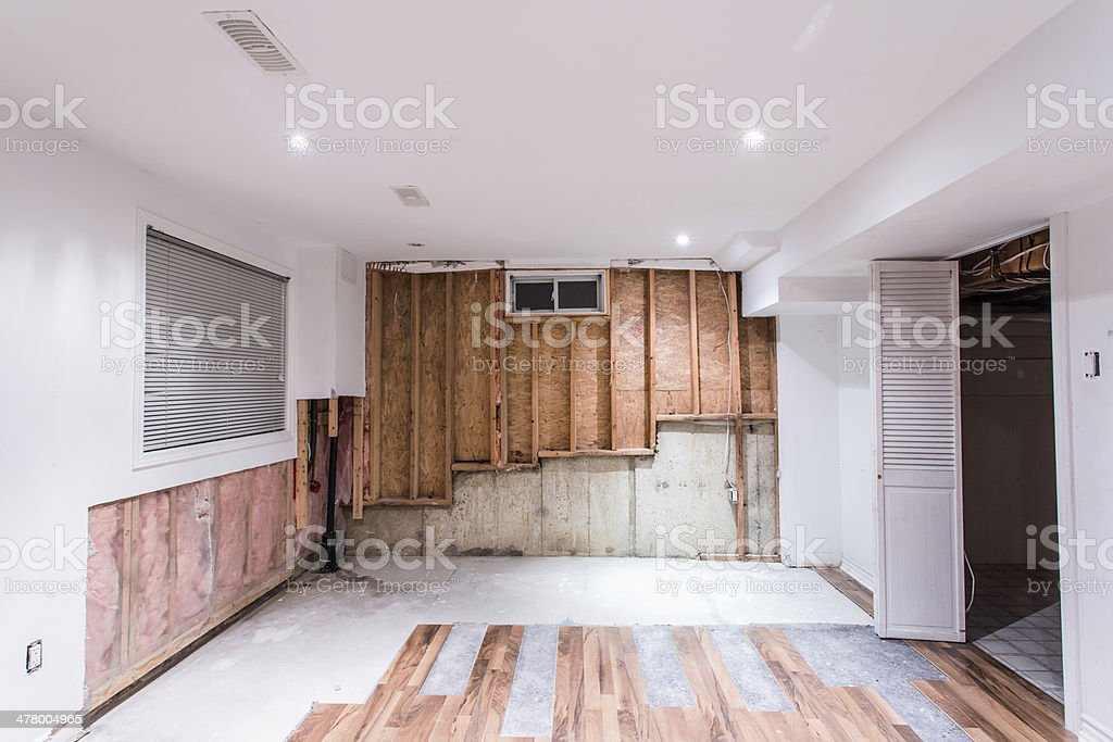 Basement Water Leak stock photo