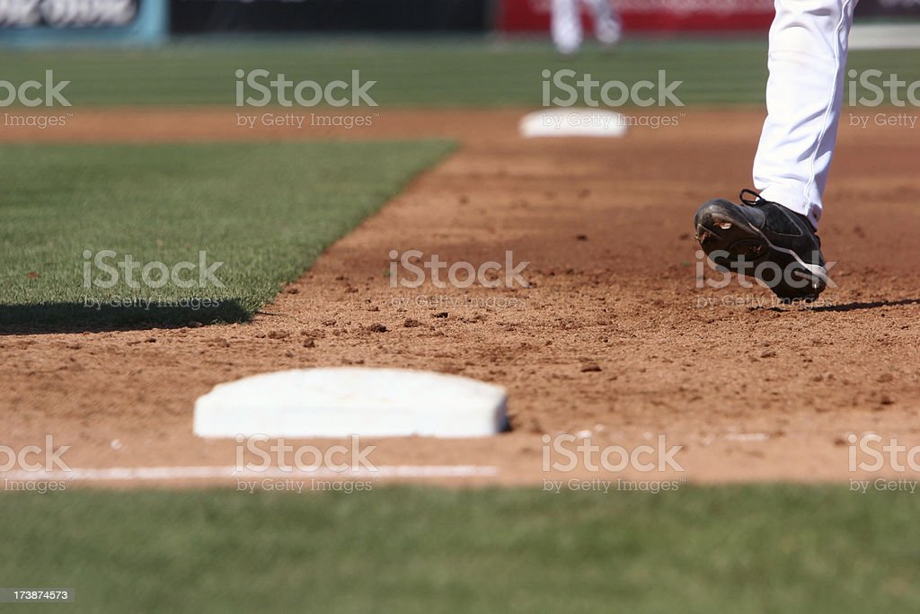 Baserunner royalty-free stock photo