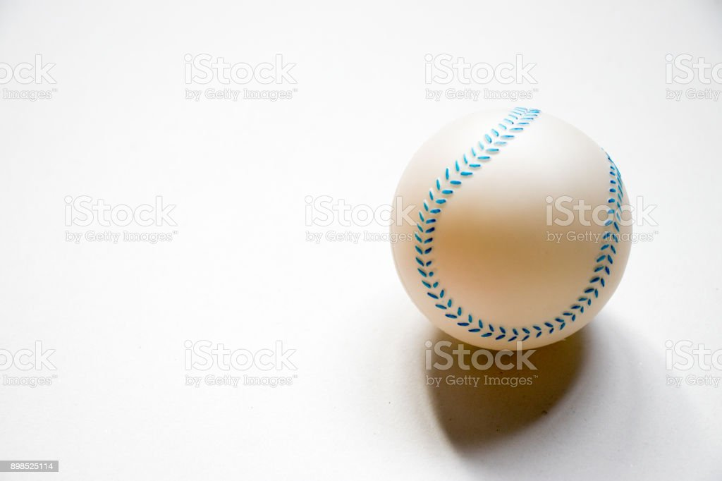 Basetball child toy placed on white background stock photo
