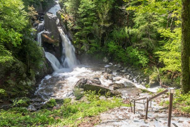 Bash Bish Falls in Spring stock photo