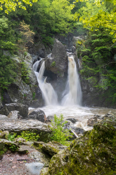 Bash Bish Falls - vertical stock photo