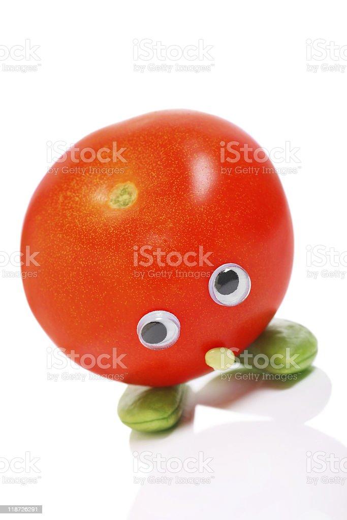 Bashful tomato royalty-free stock photo
