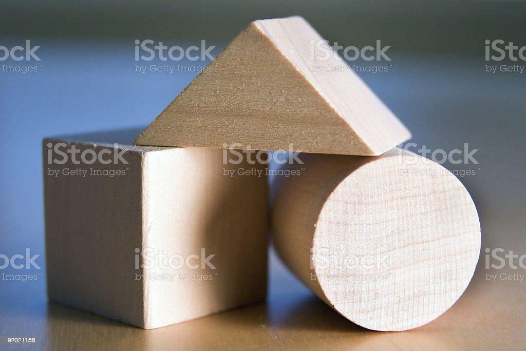 Basic Blocks and Shapes royalty-free stock photo
