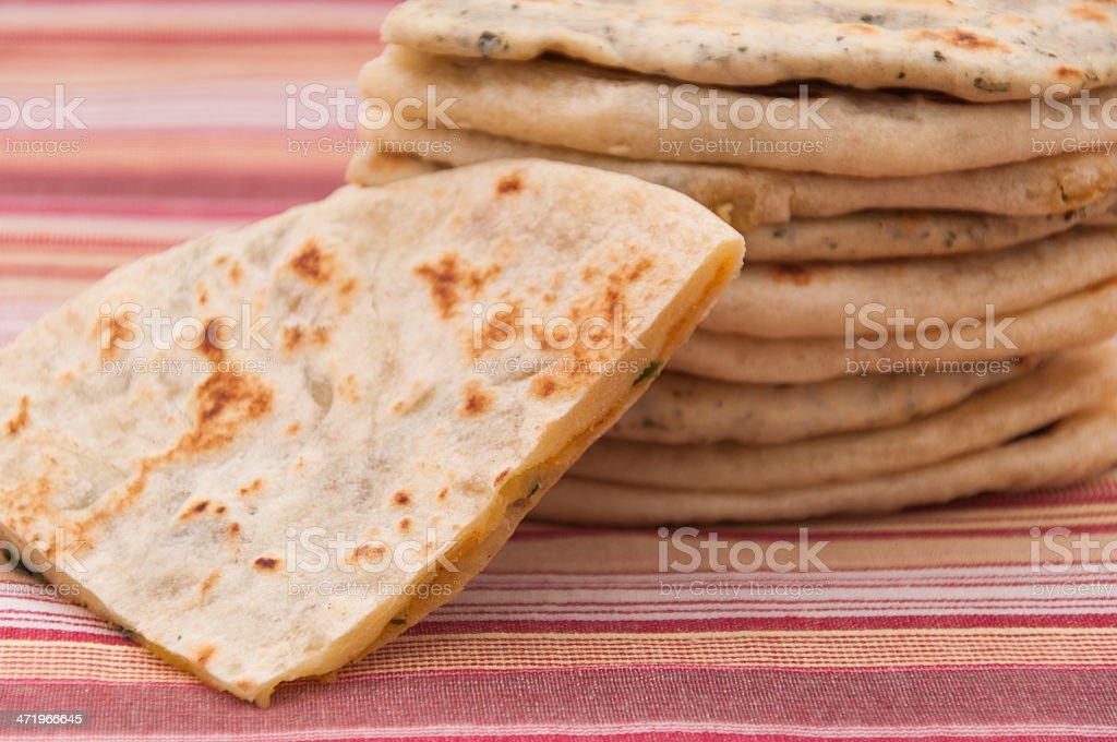 Basic Indian bread - naan stock photo