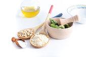 basic ingredients for pesto sauce