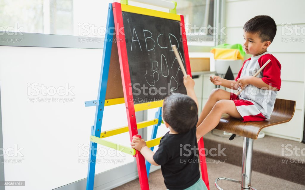 Basic learning starts from home. stock photo