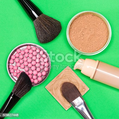 istock Basic makeup products to create beautiful complexion 509627448