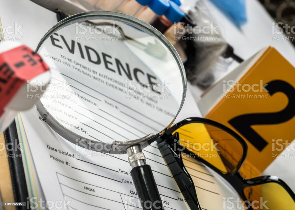 Basic Research Utensils With A Evidence Bag In Laboratory Forensic Equipment Conceptual Image Stock Photo Download Image Now Istock