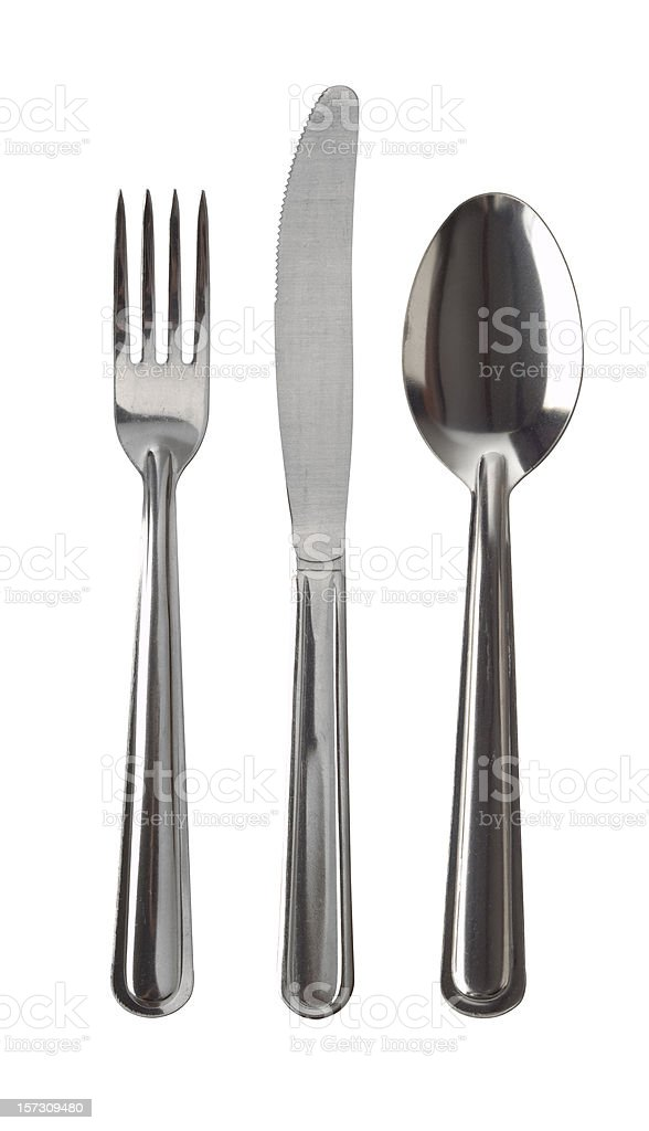 Basic Silverware w/Clipping path stock photo