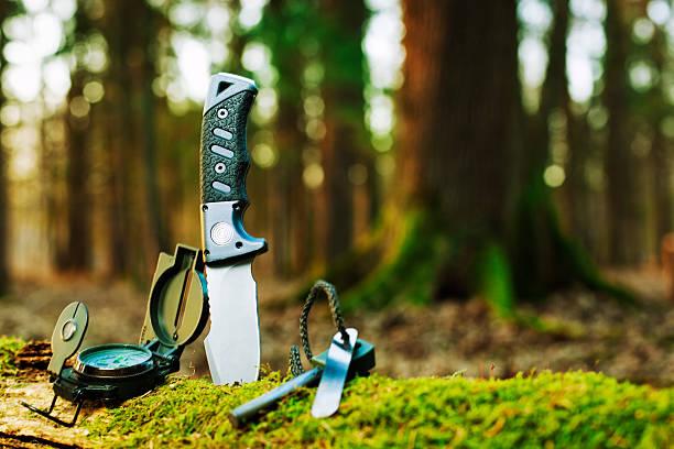 basic survival tools stock photo