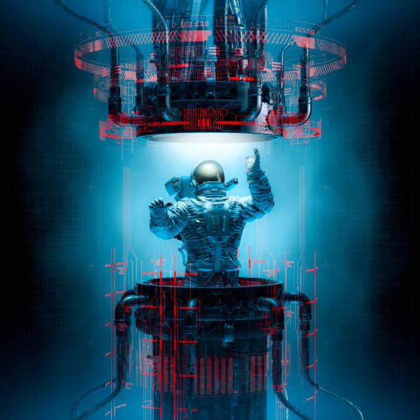 Basic teleportation principles stock photo
