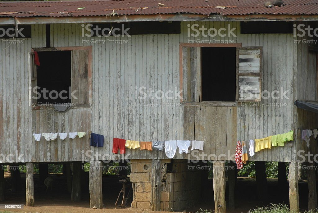 Basic Wooden Home royalty-free stock photo